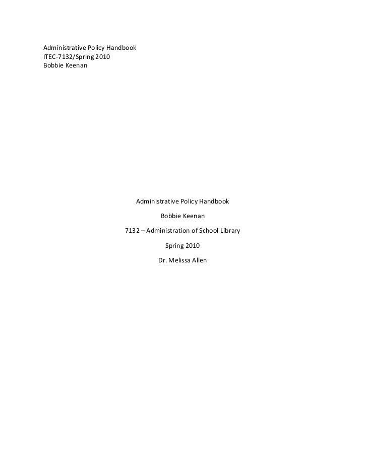 Keenan b administrative_policy_handbook