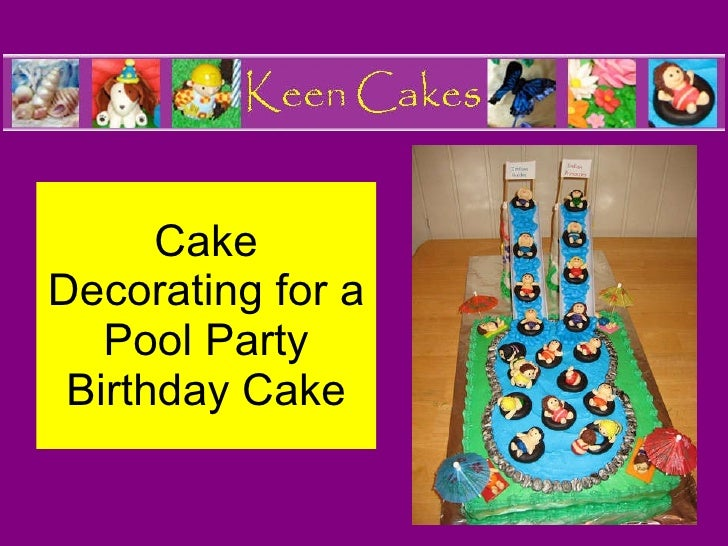Cake Design Pool Party : Pool Party Kids Birthday Cake