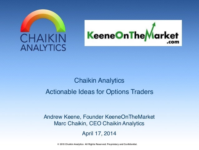Keene on the Market with Marc Chaikin