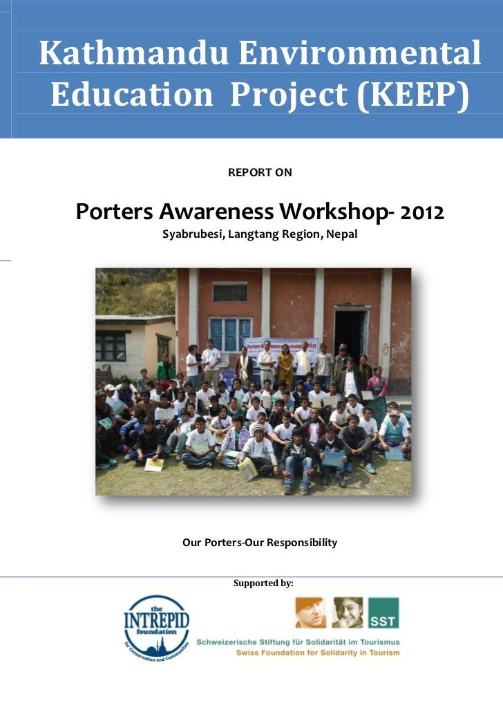 Tourism Porters Welfare Workshop Report 2012