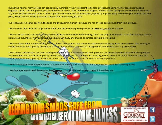Keeping yours salads safe from bacteria that caused food borne illnesa