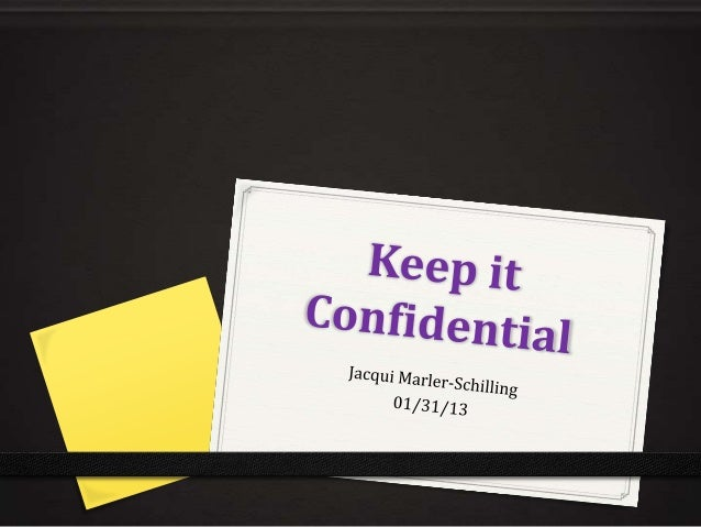 Keep it confidential v3