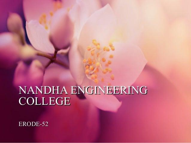 NANDHA ENGINEERING COLLEGE ERODE-52