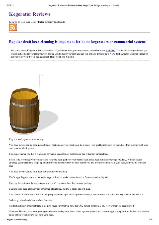 Learning From Kegerator Reviews