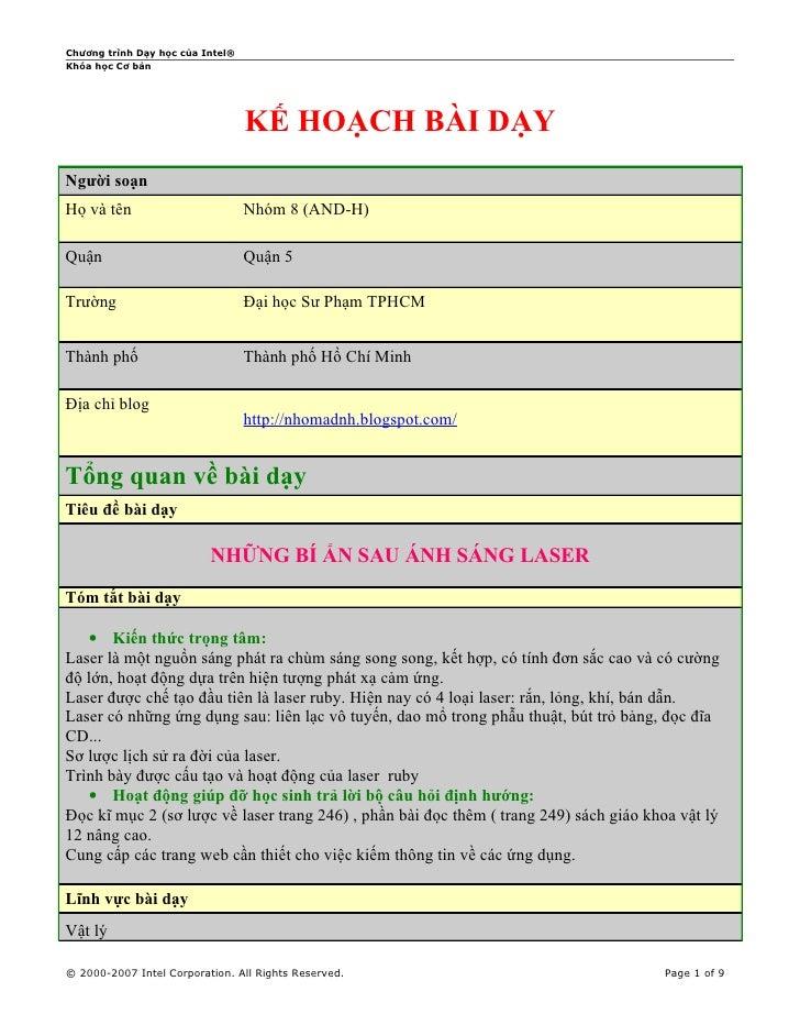 Kế hoạch bài dạy