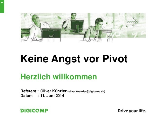 XING LearningZ: Keine angst vor pivot
