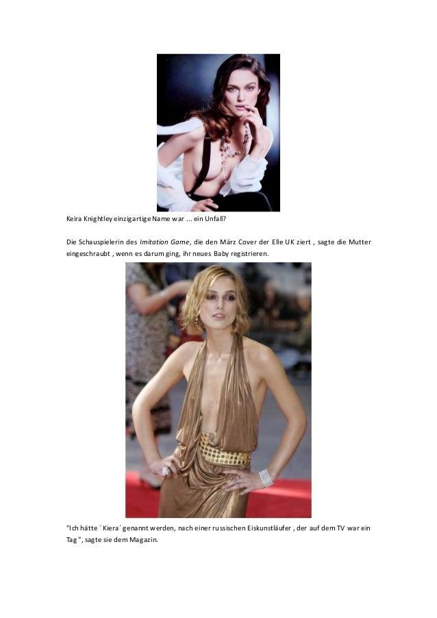 Keira Knightley einzigartigeName war ... ein Unfall? Die Schauspielerin des Imitation Game, die den März Cover der Elle UK...