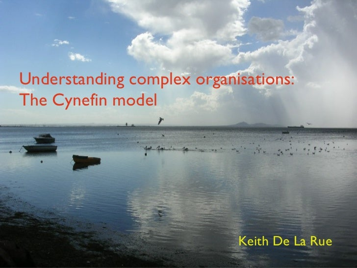 Understanding complex organisations: The Cynefin model Keith De La Rue