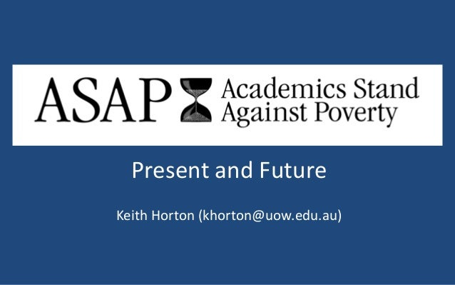 Keith Horton Academics stands against poverty