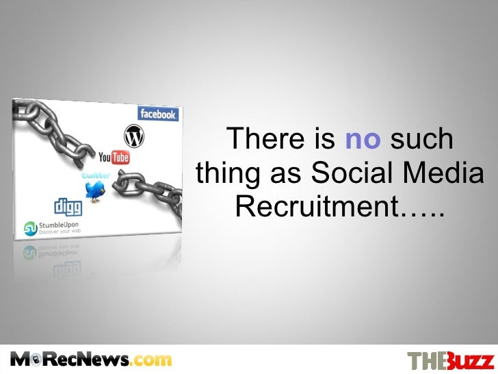 There is  no  such thing as Social Media Recruitment…..