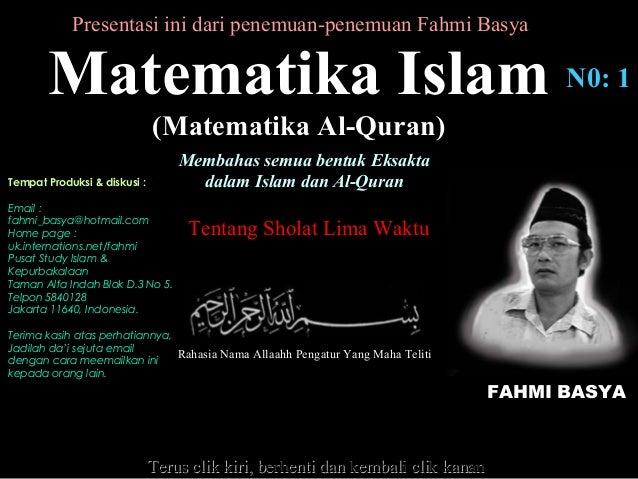 Kekuasaan allah islam matematika islam