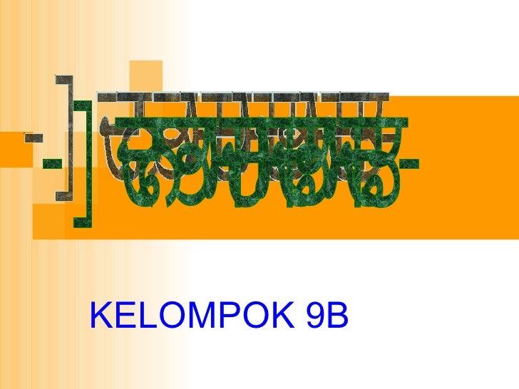 KELOMPOK 9B -Biostatistik-
