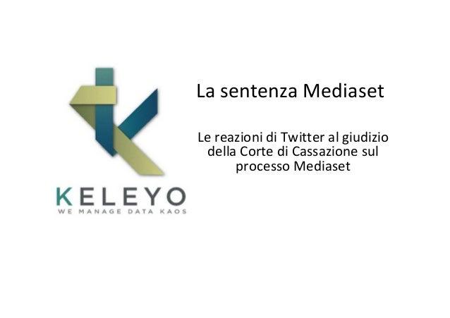 La sentenza Mediaset su Twitter