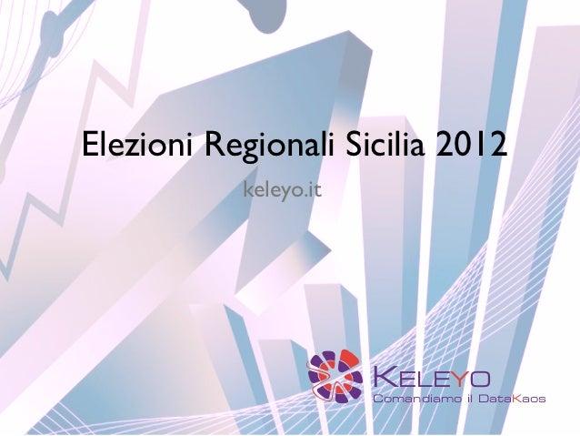Elezioni regionali in Sicilia 2012