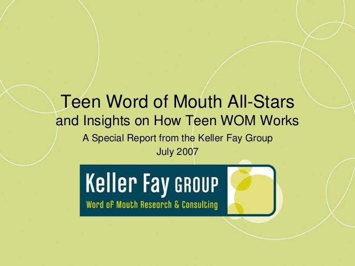 Keller Fay   Teen Wom Winners