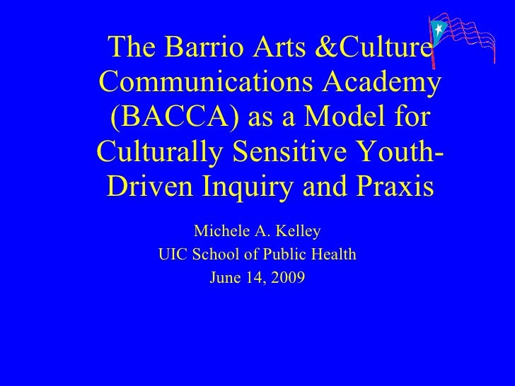 The Barrio Arts &Culture Communications Academy (BACCA) as a Model for Culturally Sensitive Youth-Driven Inquiry and Praxi...