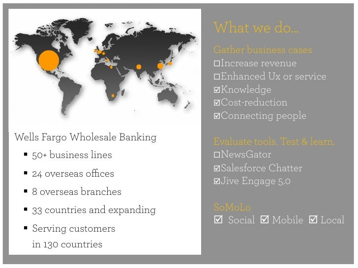 What we do…                                  Gather business cases                                  ¨Increase revenue   ...