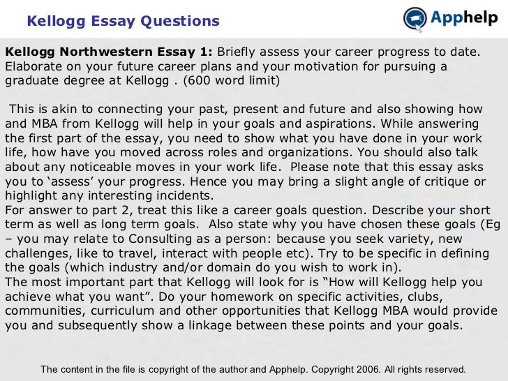 kellogg essays analysis