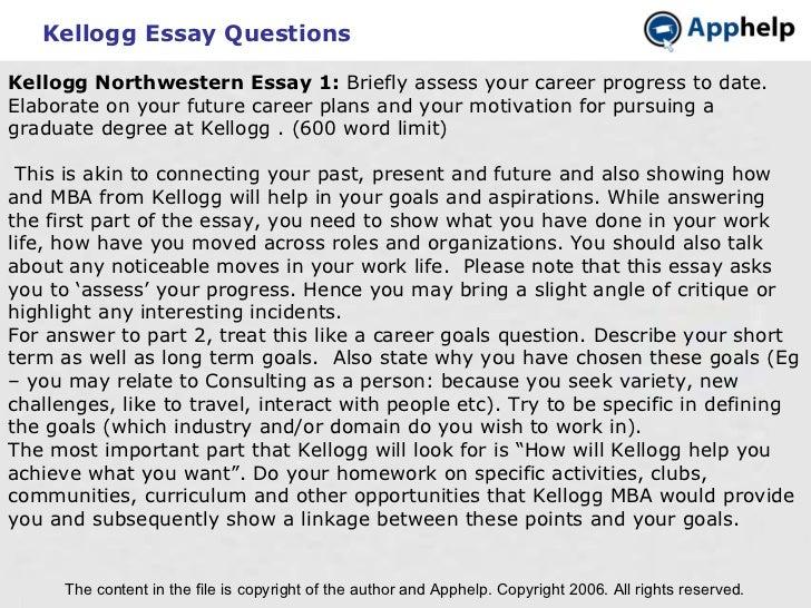 kelloggs essays