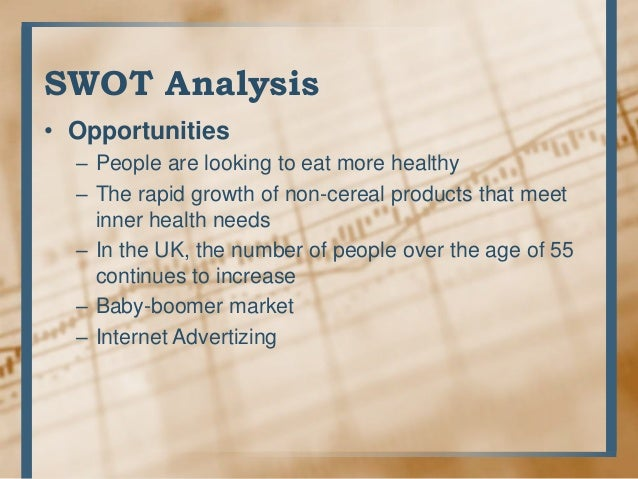 kellogg case study swot A case study on kellogg's  kellogg's case study 1  swot analysis • weaknesses – awareness of the brand is declining – the fibre products.