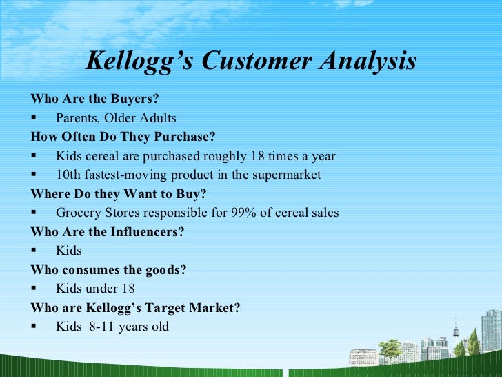 kellogg s strategic analysis Kellogg swot analysis & matrix provide insight into strategy,internal & external factorsbuy custom kellogg swot analysis $11strengths,weakness opportunities threats.