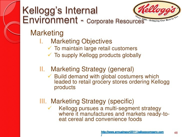 kelloggs marketing plan Revised marketing plan current situation: kellogg currently ranks as the world's leading producer of cereal and ranks as a leading.