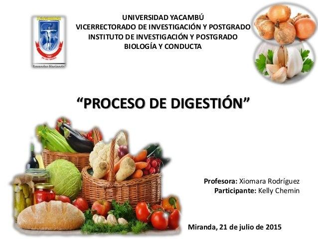 UNIVERSIDAD YACAMBÚ VICERRECTORADO DE INVESTIGACIÓN Y POSTGRADO INSTITUTO DE INVESTIGACIÓN Y POSTGRADO BIOLOGÍA Y CONDUCTA...