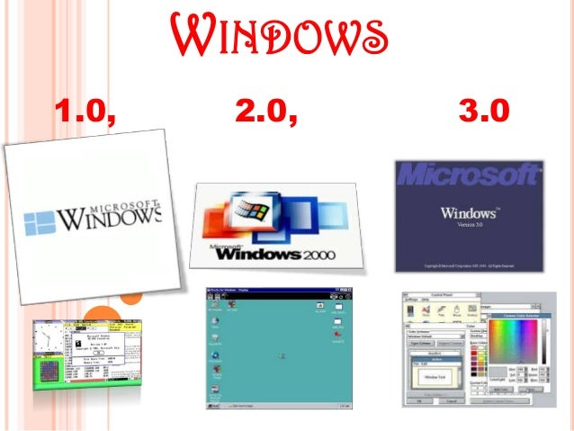WINDOWS 1.0, 2.0, 3.0