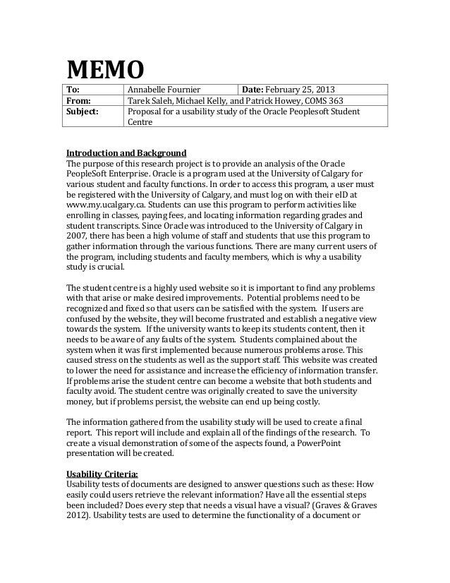 MEMOTo:             Annabelle Fournier              Date: February 25, 2013From:           Tarek Saleh, Michael Kelly, and...