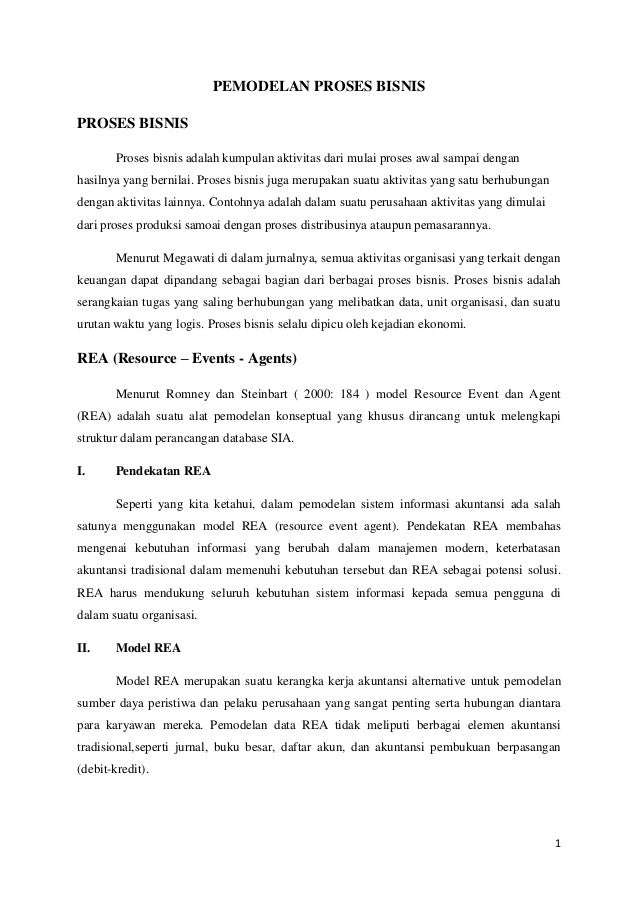 makalah sistem informasi akuntansi : PEMODELAN PROSES BISNIS