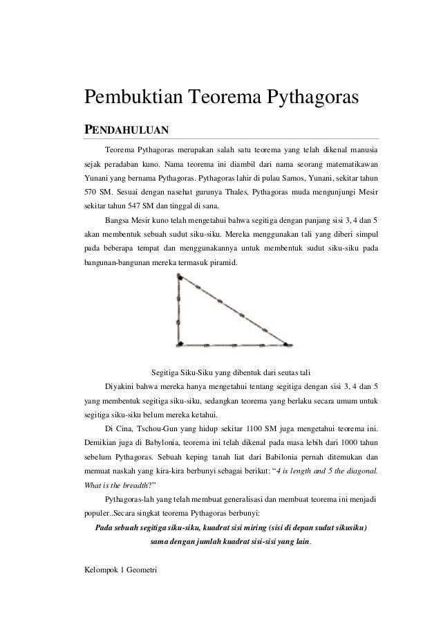 20 Pembuktian Teorema Pythagoras oleh Kelompok 1