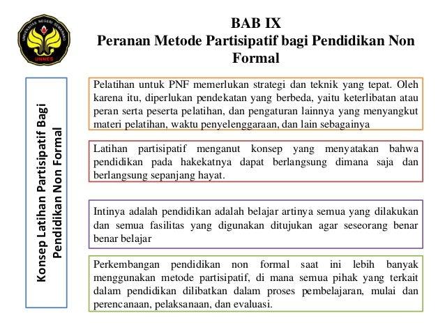 BAB IX                                   Peranan Metode Partisipatif bagi Pendidikan Non                                  ...