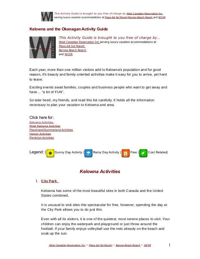 Kelowna and okanagan actiivity guide3