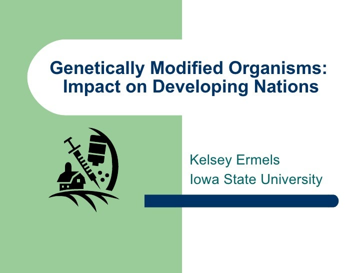 Genetically Modified Organisms:  Impact on Developing Nations Kelsey Ermels Iowa State University