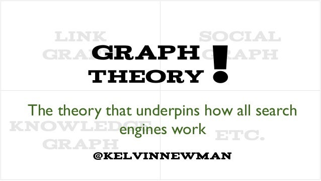 Graph Theory #searchlove The theory that underpins how all search engines work @kelvinnewman