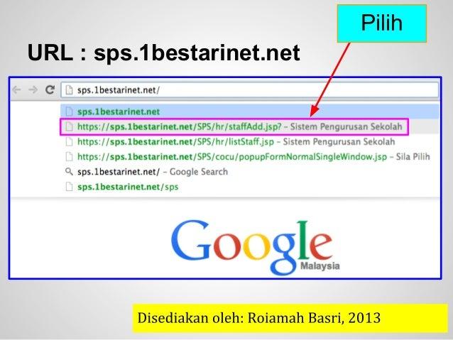 URL : sps.1bestarinet.net Pilih