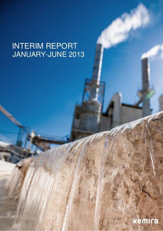Kemira's January-June 2013 Interim Report