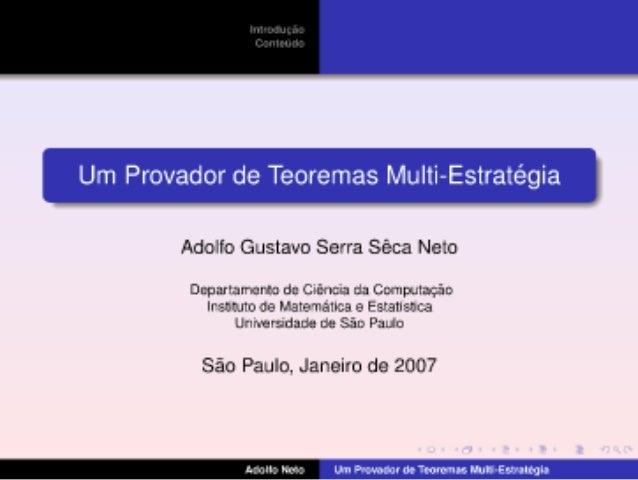 KEMS - Um Provador de Teoremas Multi-Estrategia