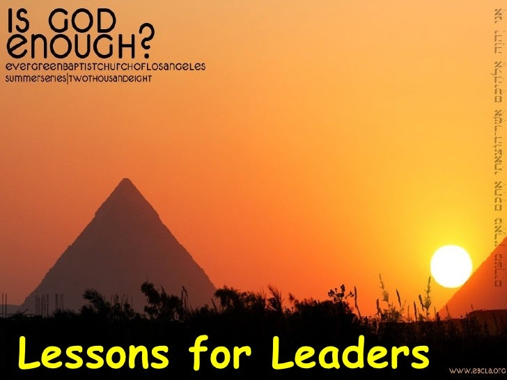 Lessons for Leaders