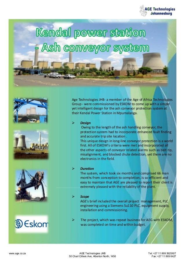 AgeTechnologiesJHB‐ amemberoftheAgeofAfricaTechnologies Group‐ werecommissionedbyESKOMtocomeupwithasim...