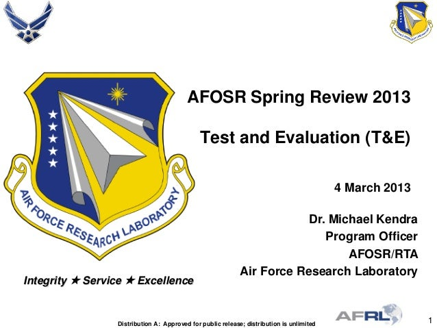 Kendra - Test and Evaluation - Spring Review 2013