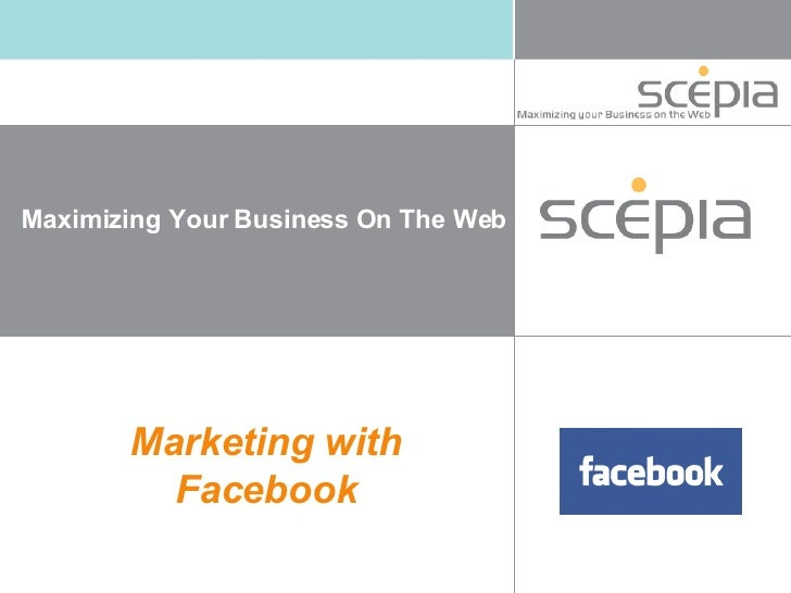 Marketing with  Facebook