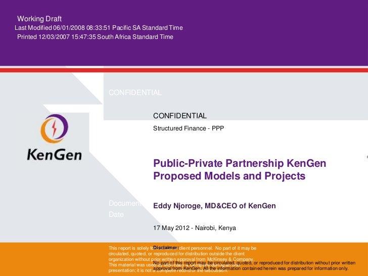 Ken gen   ppp seminar presentation