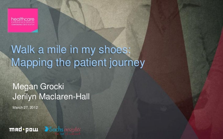 Walk a mile in my shoes:Mapping the patient journeyMegan GrockiJerilyn Maclaren-HallMarch 27, 2012