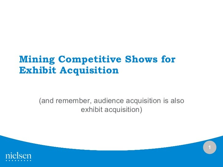 Kenji Haroutunian Mining Competitive Shows for Exhibit Acquisition kh