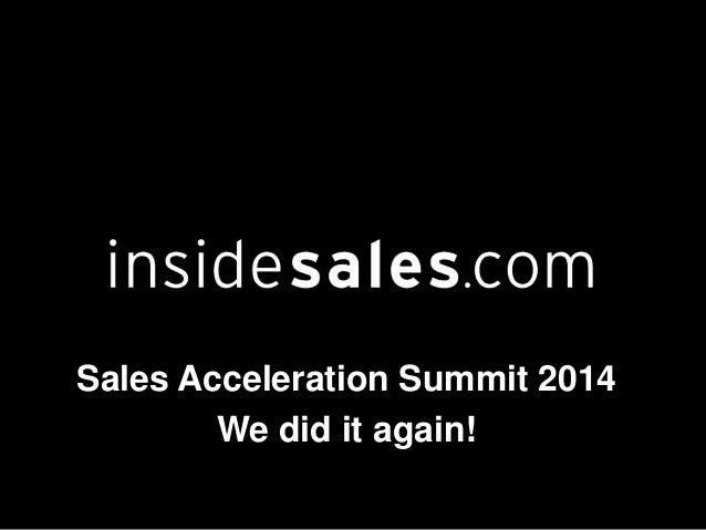 Ken Krogue - Sales Acceleration 2014 Virtual Summit Recap