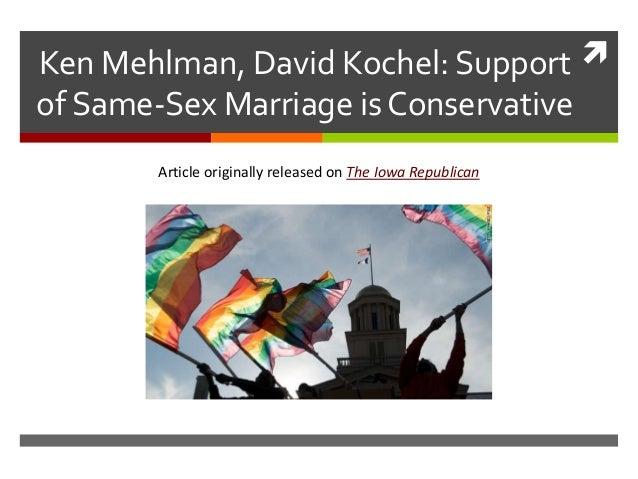 Ken Mehlman, David Kochel: Support of Same-Sex Marriage is Conservative