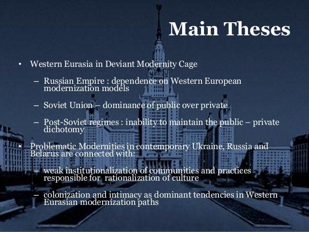 Modernization of non-Western societies?