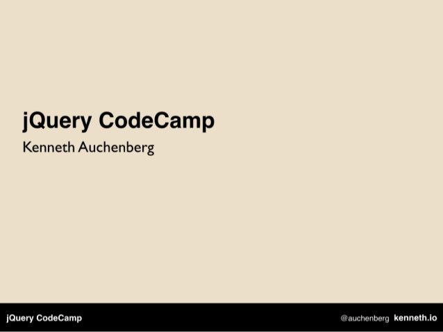 jQuery CodeCamp
