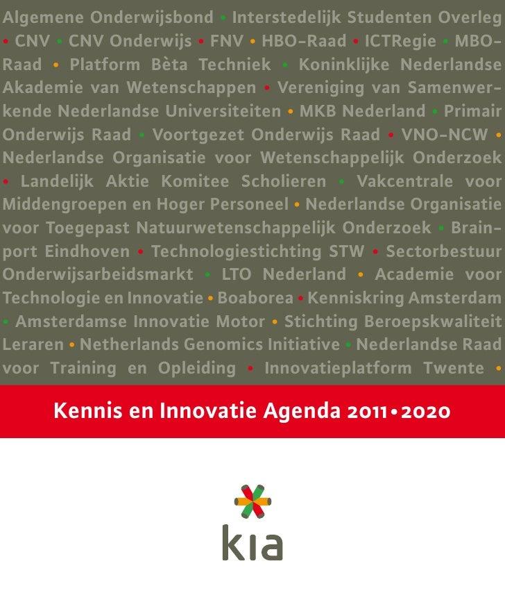 Kenniseninnovatieagenda 2011 2020